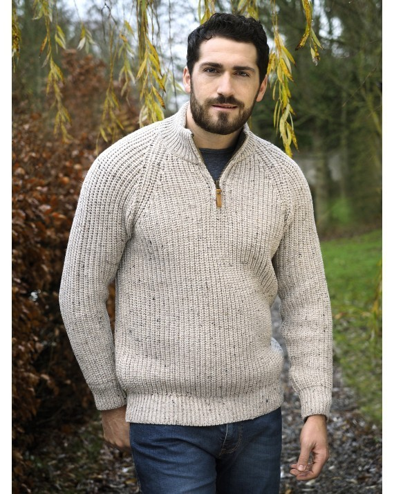 Fishermans Rib Half Zip Sweater