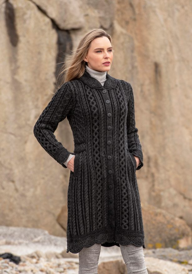 Leitrim Long Button Coat