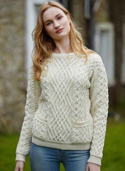 Cong Ladies Cable Pullover