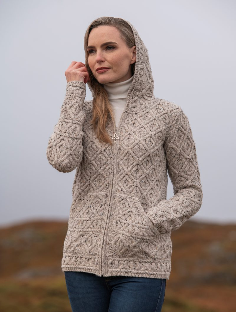 Honeycomb Hood Cardigan